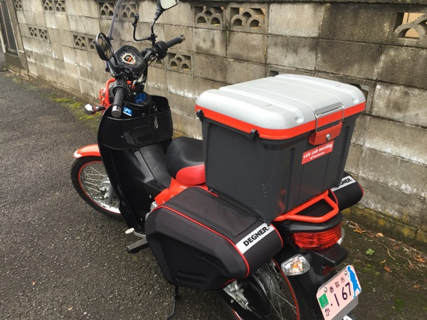 バイクのサイドバッグ